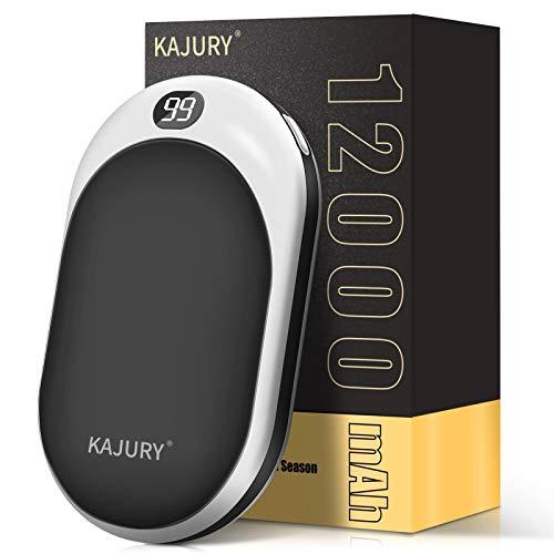 KAJURY 12000mAh Rechargeable Hand Warmers Portable Electric Power Bank