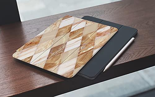 MEMETARO Funda para iPad (9,7 Pulgadas 2018/2017 Modelo), Fondo de patrón de diseño de Azulejos de mármol de Pared y Piso para Edificios Smart Leather Stand Cover with Auto Wake/Sleep