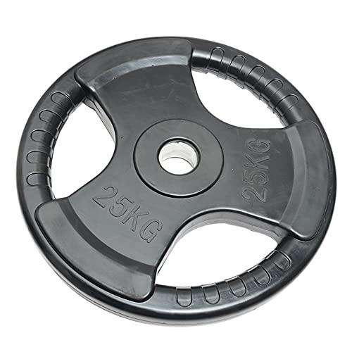 YQCH Grip de Tres Agujeros Plancha Envuelta de plástico 5 cm Agujero Grande Black Fitness Barbell Plate 2.5kg / 5kg / 10kg / 15kg / 20kg / 25kg (Color : 25kg)