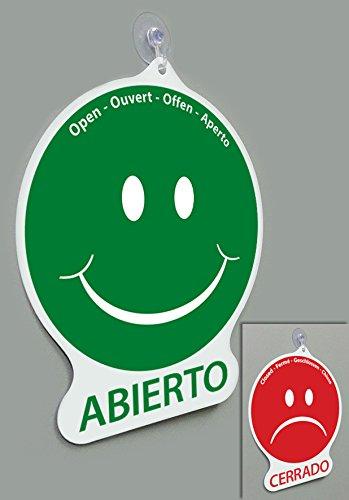Cartel Emoticon abierto/cerrado