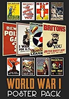 World War 1 Propaganda Poster Pack (12 Posters) WWI - Ideal for Schools - A4 Paper Size