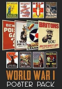 World War 1 Propaganda Poster Pack  12 posters  WWI - ideal for schools - A4 Paper Size
