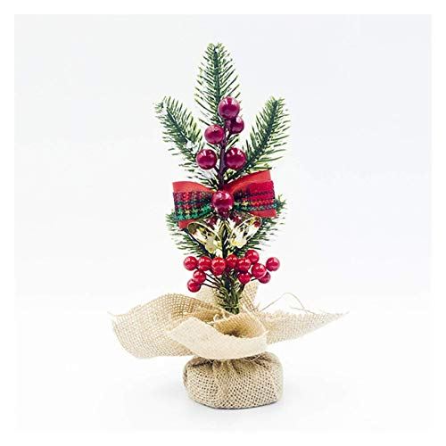 NLRHH Weihnachtsbaum künstliche Weihnachtsbaum auf heimisch kreative Jute rote Frucht Kiefer coe Schreibtisch Ornament weihnachtsdorf einfache Montage (Farbe: B Glocken) Peng (Color : B Bells)