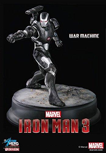 Dragon Models Iron Man 3 War Machine Action Hero Vignette Statue, 1:9 Scale image