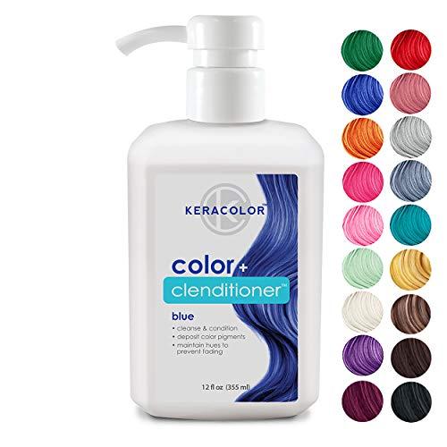 Keracolor Clenditioner PURPLE Hair Color Dye Color - Depositing Conditioner Colorwash, Semi-Permanent, 12 fl. Oz.