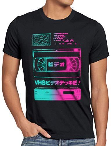 A.N.T. VHS Tape T-Shirt Homme Cassette vidéo VCR télévision showview, Taille:XL