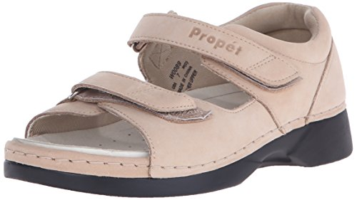 Propet Women's W0089 Pedic Walker Sandal,Dusty Taupe Nubuck,8.5 W (US Women's 8.5 D)