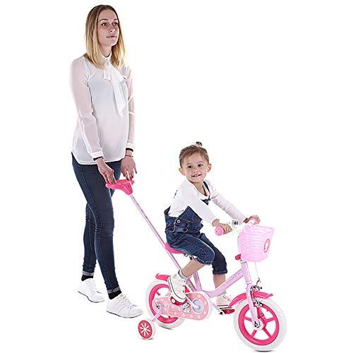 Kinderfiets Vrouwelijke 12 Inch 2-3-5 Jaar Oude Baby Vervoer Kind Prinses Fiets met Duwstang, Antislip Wear, de Beste Keuze voor Ouders