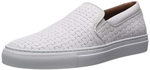 Aquatalia Women's Ashlynn Embossed Calf Sneaker, White, 10.5 M US
