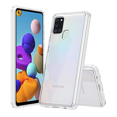betterfon | Samsung Galaxy A21s Hülle Stoßfeste Outdoor Transparent Cover Handy Tasche Silikon Crystal Case TPU Silikon Durschsichtig Klar Bumper Schutzhülle für Galaxy A21s SM-A217F