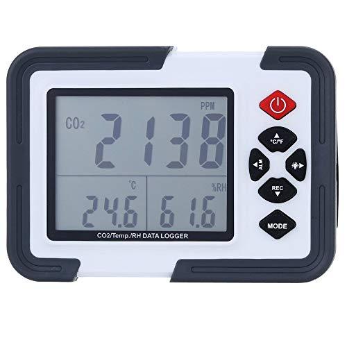 Clicke Desktop Luftdetektor CO2 Monitor Detektor Alarm mit Display mit Temperatur- und Luftfeuchtigkeitsanzeige