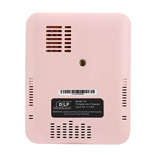 Mini Wireless / Wired Projector, Portable 4K Projector with HDMI Input Pink (#3)