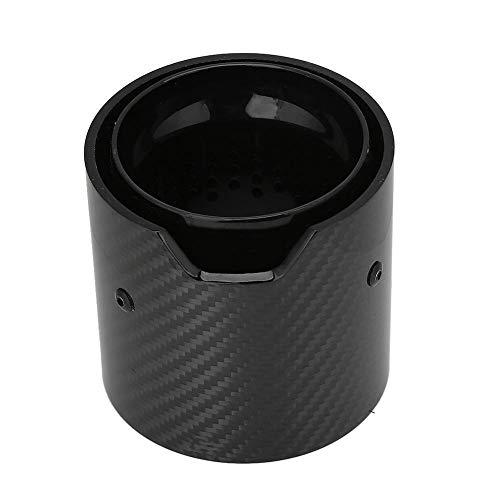 Gorgeri Auto Real Carbon Auspuffrohr Endrohr Hinten Hals Auto Modifikation Zubehör Fit für M2 M3 M4(73-93-90mm Black)