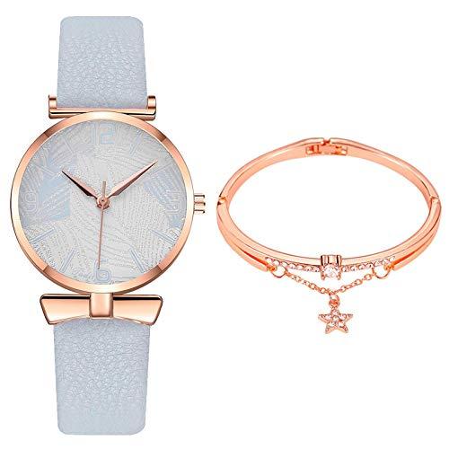 JZDH Relojes para Mujer Fashion Popular Women Casual Net con Estrellas Decoración Fashion Wild Belt Watch Finger Chic Regalo Relojes Decorativos Casuales para Niñas Damas (Color : Rose)