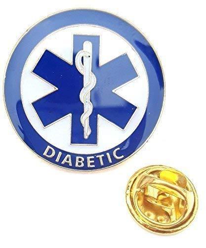 DIABETIKER Medical Alert Symbol Anstecknadel