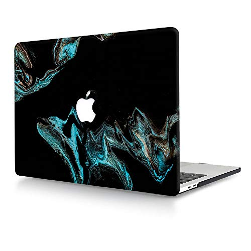 ACJYX Compatible with MacBook Air 13 inch Case Models: A1369 & A1466 Older Version 2010-2017, Plastic Protective Hard Shell Case Cover for MacBook Air 13.3 - Blue & Black
