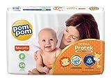 Fralda Pom Pom Derma Protek Mega P 54Un, Pom Pom, Laranja, Pequeno