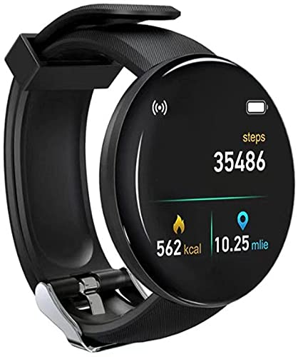Reloj inteligente, IP68 impermeable Bluetooth Smart Fitness Tracker con pantalla táctil completa de 1.3 pulgadas, monitor de ritmo cardíaco, monitor de sueño(negro)