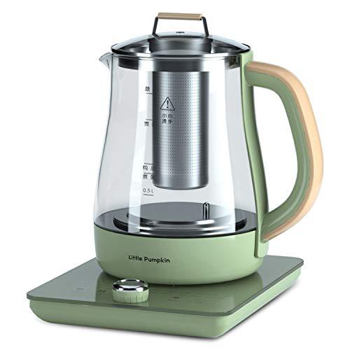 Multifunktion Teekocher Elektrisch 1.8L the Smart Tea Infuser Compact Wasserkocher mit Temperatureinstellung und Permanent-Edelstahl-Teefilter (herausnehmbar) BPA-frei,800w