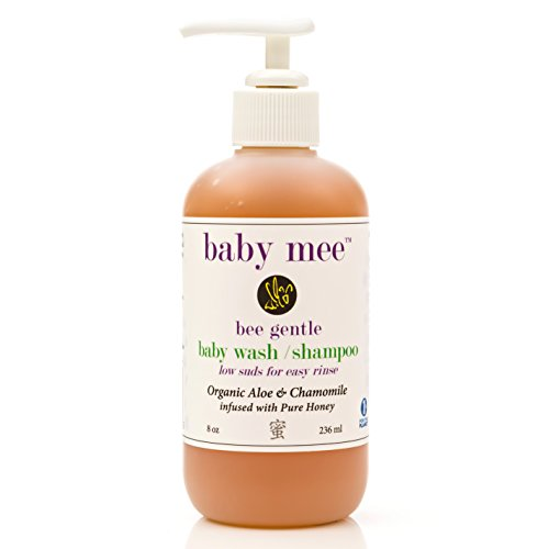 Baby Wash Kids Shampoo - Organic Aloe, Chamomile & Natural Honey for Soothing Eczema, Cradle Cap, and Dry, Itchy, Sensitive Skin & Scalp - Tear Free - for Babies, Toddlers & Big Kids (Single 8 oz.)