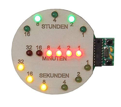 Sol Expert Binäre Uhr, Schüler-Lötbausatz für USB (Powerbank oder Port)