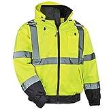 High Visibility Reflective Winter Bomber Jacket, Zip Out Fleece Liner, ANSI Compliant, Ergodyne GloWear 8379