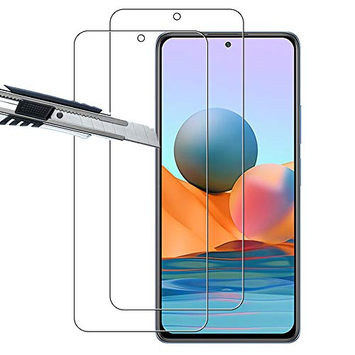 THILIVE (2 Stück) Xiaomi Redmi Note 10 4G Panzerglas, Bildschirmschutzfolie panzerfolie, Folie gehärtetem Glas,9H Festigkeit,Kratzfest,Glasfolie Glas Schutzfolie für Redmi Note 10 4G -klare