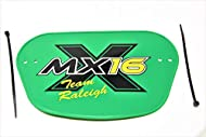 A great way to jazz up any boys bike , this Raleigh Number plate that was designed for the Raleigh MX16 but also ideal for go-karts & special build projects or to brighten up any childs BMX or MX bike Plate includes securing ties for easy assemble to...