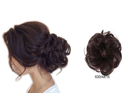 Extensions de cheveux de Showpower pour chignon, queue de cheval, ballerine, Donut, chignon pour cheveux ondulés, bouclés Messy, Chouchou ou Top Knot