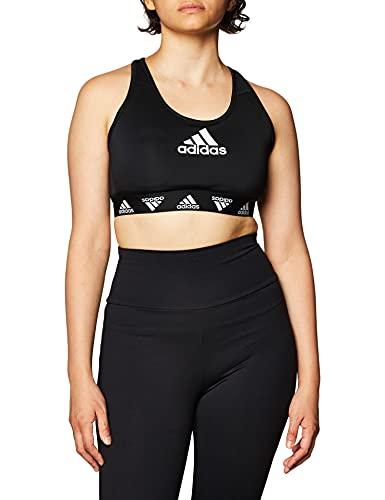 adidas Damen Damen Sport-BH Don't Rest Alphaskin Padded Sport-BH, Black/White, M, FT3129