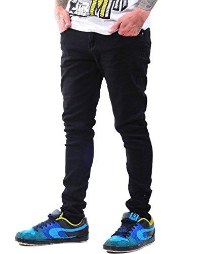 Criminal Damage Skinny Fit Stretch Jeans (Schwarz) - 28