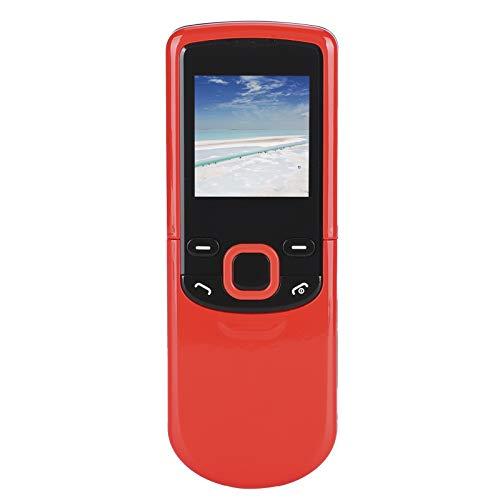 Archuu M8810 Teléfono móvil para Personas Mayores, 1,44 Pulgadas, Varios Idiomas, Mini teléfono móvil, Botones Rectos Grandes, teléfono con Funciones para Personas Mayores, 700 mAh (Rojo)