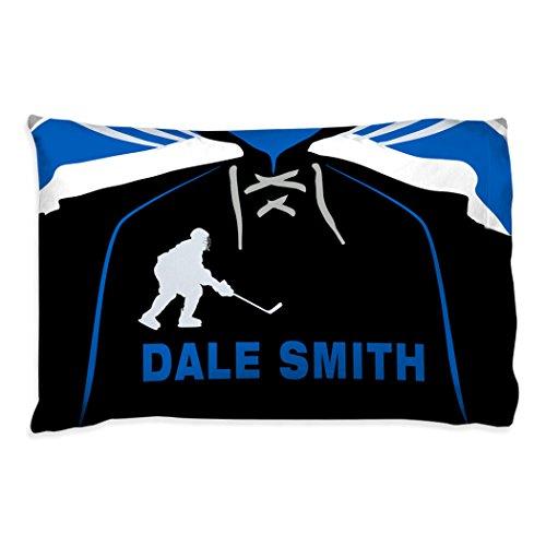 Personalized Hockey Jersey Pillowcase | Hockey Pillows by ChalkTalk Sports | Blue