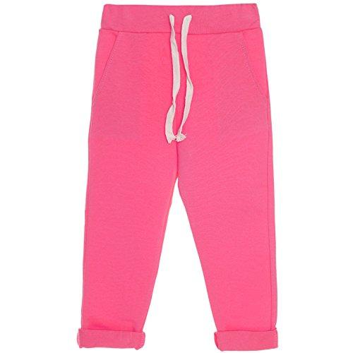 BEZLIT Mädchen Kinder Stoff Jogging Sport Hose Trainings Freizeit Leggings 21206 Pink Größe 164
