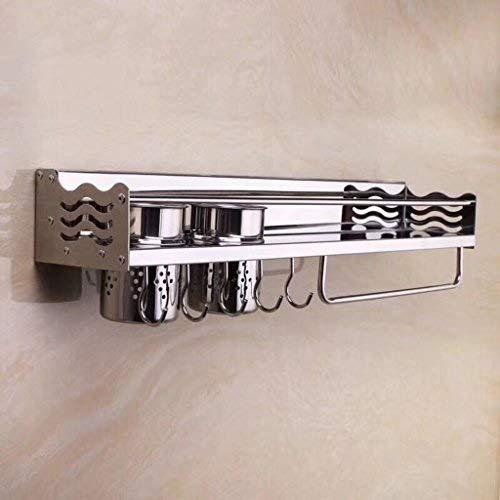 Regal 360 Edelstahl gebürstet hell Licht Zaun Werkzeug Halter Multifunktions-Würz-Anhänger Werkzeug Halter Küche Essstäbchen Zylinder