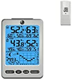 Ambient Weather WS-110 Wireless Weather Station with Temperature, Humidity, Barometer, Dew Point, Moon Phase Featuring Ambient Hue Backlighting