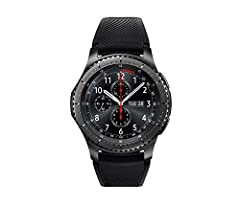 The Samsung Gear S3 has an always-on watch face and distinctive steel bezel that you can rotate to access apps and notifications. Text, call and get notifications directly from your watch through your Bluetooth connected smartwatch. Access the apps y...