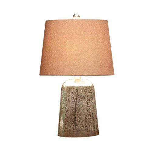 lámpara de mesa Lámpara de mesilla de noche de salón nórdico Lámpara de mesa de luz de marinera creativa de vidrio americano A+
