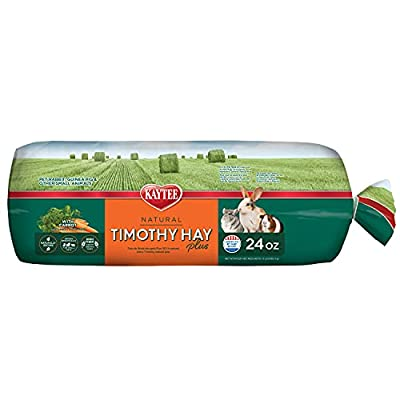 Kaytee Timothy Hay Plus, Carrots, 24-Ounce, Standard Packaging from Central Garden & Pet