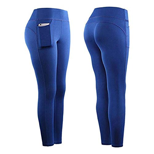 Leggings Mujer Fitness 2020 SHOBDW Color Sólido Stretch Legging Yoga Mujer Workout Running Gym Bolsillos Leggings Deporte Mujer Activos Pantalones Chandal Mujer Baratos