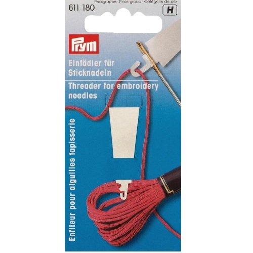 Prym Infilatore per Aghi da Ricamo, Metallo, Bianco, 14 x 5.7 x 1.7 cm