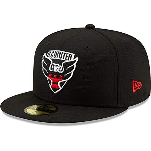 New Era 59Fifty MLS D.C. United - Gorra, color negro Negro XXX-Large