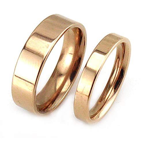 ANAZOZ Paar Ringe Edelstahl Poliert Verlobungsring Damast Eheringe Rose Gold Damen Ringe Unendlich für Frauen und Männer Damen 60 (19.1) & Herren 65 (20.7)
