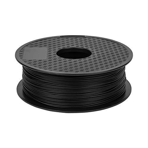 Comgrow Filamento PLA para Impresora 3D 1,75mm 1Kg(Negro)