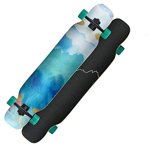 Sale!! YQQ-MOTION Longboard Skateboard 44 inches Deck Maple Dancing Longboard Made for Adults, Teens...
