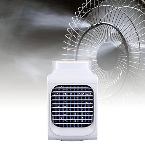 Faceuer Refrigerador de Aire, Ventilador de enfriamiento del Filtro 350ml Carga por USB Desmontable con luz Nocturna para el hogar