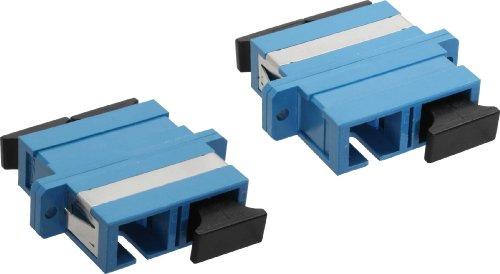 InLine 89992S LWL Kupplung, Duplex SC/SC, singlemode, blau, Keramik-Hülse, zum Einbau