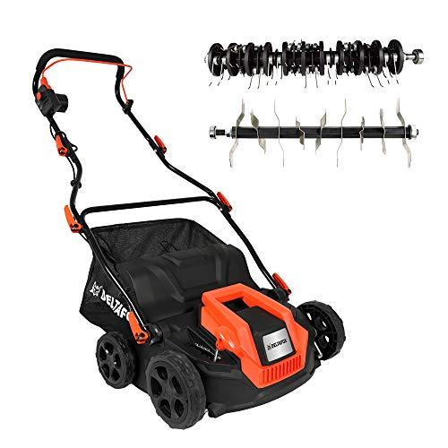 DELTAFOX Elektro Lüfter- Vertikutierer - 1300 W - 32cm Arbeitsbreite - 5-fach höhenverstellbar - 40 l Fangkorb - 32cm Arbeitsbreite - 40 Federn - 18 Messer - bis 400m²