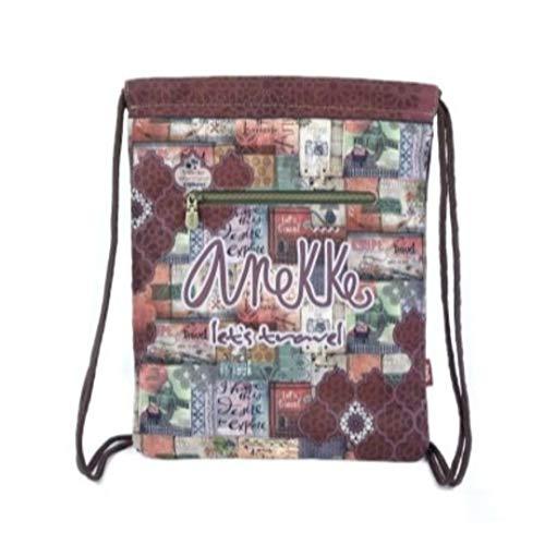 Anekke Saco Mochila Textil Egipto Letras