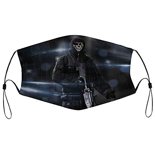 Best-design Call Of Duty Ghosts - Máscara de borde ajustable para adultos, protección facial portátil, bandana, borde elástico, pasamontañas